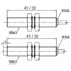 Датчик индуктивный ВКИ.М08.45К.1.НЗ.N стандратный DC 10-30B