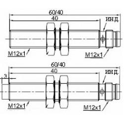 Датчик индуктивный ВКИ.М12.60Р.2.НО.Р стандратный DC 10-30B