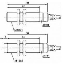Датчик индуктивный ВКИ.М18.50К.8.НО.Р стандратный DC 10-30B