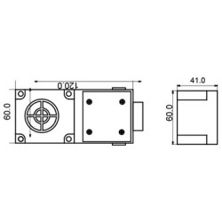Датчик индуктивный ВКИ.П60.120М.25.НЗ.АС  пластиковый корпус 90-250В