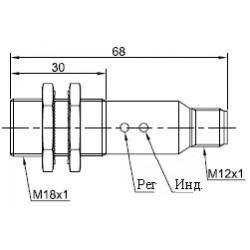 Датчик оптический ВКО.М18.65Р.3М.НО.Р цилиндрический