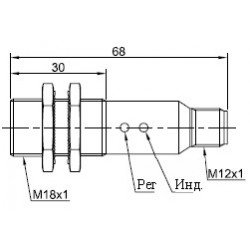 Датчик оптический ВКО.М18.65Р.3М.НО.N цилиндрический