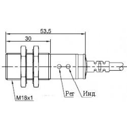 Датчик оптический ВКО.М18.54К.20М.НО.N цилиндрический