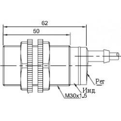 Датчик оптический ВКО.М30.54К.1М.НО-НЗ.Р цилиндрический