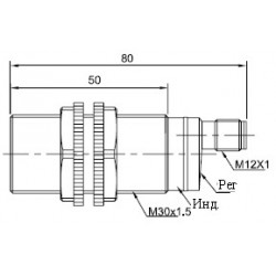 Датчик оптический ВКО.М30.65Р.1М.НО.N цилиндрический