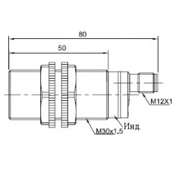 Датчик оптический ВКО.М30.65Р.5М.НО-НЗ.N цилиндрический