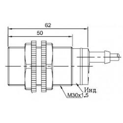 Датчик оптический ВКО.М18.62К.20М.НЗ.Р цилиндрический