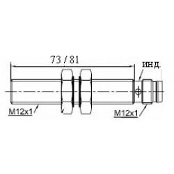Датчик индуктивный ВКИ.М12.60Р.4.НЗ.DC стандратный DC 10-30B