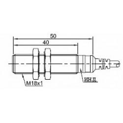 Датчик индуктивный ВКИ.М18.50К.5.НО.АС цилиндрический АС 20-250В