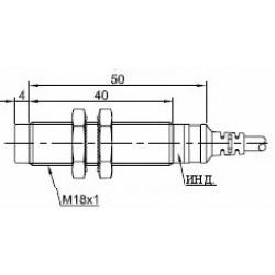 Датчик индуктивный ВКИ.М18.50К.8.НЗ.АС цилиндрический АС 20-250В