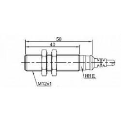 Датчик индуктивный ВКИ.М12.50К.2.НО.АС цилиндрический АС 20-250В