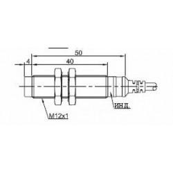 Датчик индуктивный ВКИ.М12.50К.4.НО.АС цилиндрический АС 20-250В