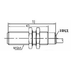 Датчик индуктивный ВКИ.М12.50К.4.НЗ.DC стандратный DC 10-30B