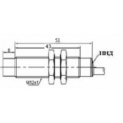 Датчик индуктивный ВКИ.М12.50К.8.НО.Р стандратный DC 10-30B