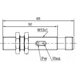 Датчик оптический ВКО.М12.65Р.10М.НО-НЗ.N цилиндрический